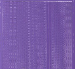 Zier-Sticker-Bogen-versch.dünne Ränder-flieder-306fl