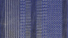 Zier-Sticker-Bogen-versch.dünne Ränder-blau/gold-309blg