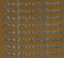Zier-Sticker-Bogen-Alles Gute zur Konfirmation-3122g
