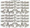 Zier-Sticker-Bogen-zur Hochzeit-weiß/gold-3170wg