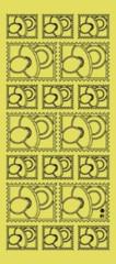 Zier-Sticker-Bogen-Babymotive-Schnuller-Briefmarke-h.blau-3201h.bl