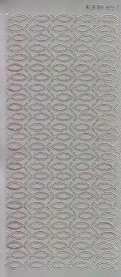 Zier-Sticker-Bogen-3257s-Christliche Motive-Fische-silber