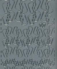 Zier-Sticker-Bogen-Füsse / verschiedene Größen-0325s
