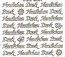 Zier-Sticker-Bogen-Herzlichen Dank-weiß/gold-3307wg