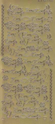 Zier-Sticker-Bogen-3366g-Zur Taufe -gold