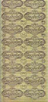 Zier-Sticker-Bogen-3371hog-Handarbeit im Label-holo-gold