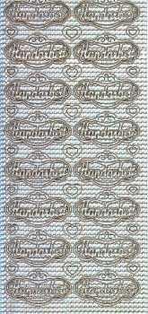 Zier-Sticker-Bogen-Handarbeit im Label-holo-silber-3371hos