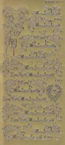 Zier-Sticker-Bogen-Zur Silberhochzeit-gold-3377g