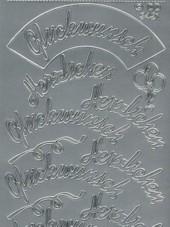 Zier-Sticker-Bogen-Herzlichen Glückwunsch-groß/gebogen-3421s