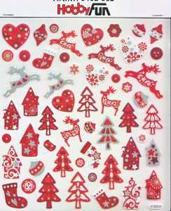 Hobby Design Sticker - HobbyFun 362- Weihnachte II