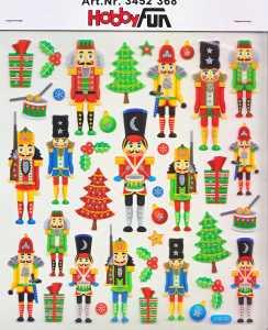 Hobby Design Sticker - HobbyFun 368- Weihnachten V - Nussknacker