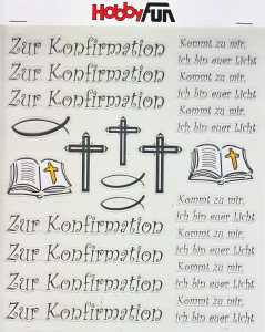 Hobby Design Sticker - HobbyFun 372- Zur Konfirmation