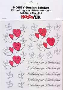 Hobby Design Sticker - HobbyFun 443- Einladung zur Silberhochzeit