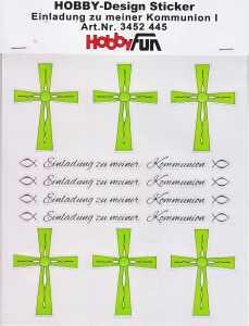 Hobby Design Sticker - HobbyFun 445- Einladung zu meiner Kommunion