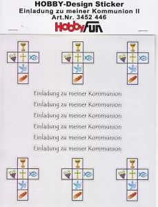Hobby Design Sticker - HobbyFun 446- Einladung zu meiner Kommunion 2