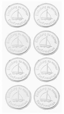 3D Sticker Creapop HobbyFun HF3040 Kommunion / Einladung Zu Meiner  Konfirmation Boot Silber/weiß