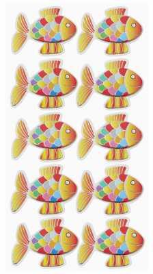 3D Sticker-Creapop-HobbyFun-HF3043-Fische I -orange/weiß/regenbogen