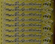 Zier-Sticker-Bogen-0350g-Zum Hochzeitstag-gold