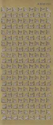 Zier-Sticker-Bogen-180 kleine Ecken -3511g
