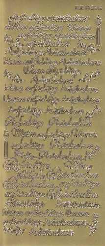 Zier-Sticker-Bogen-Meine / Unsere aufrichtige Anteilnahme-gold-3512g