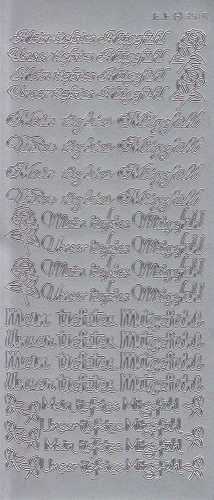 Zier-Sticker-Bogen-Meine / Unsere tiefstes Mitgefühl-silber-3516s