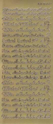 Zier-Sticker-Bogen-Meine / Unsere allerherzlichtes Beileid-gold-3517g