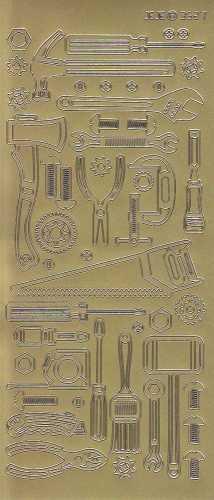 Zier-Sticker-Bogen-Werkzeug- gold - 9527g