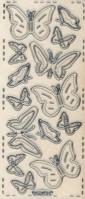 Micro-Glittersticker-Schmetterlinge-transparent/silber-361Gtrs
