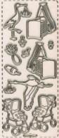 Micro-Glittersticker-Bogen-Babymotive 1 -transparent/gold-364Gtrg