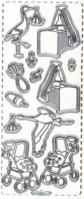 Micro-Glittersticker-Bogen-Babymotive 1 -transparent/silber-364Gtrs