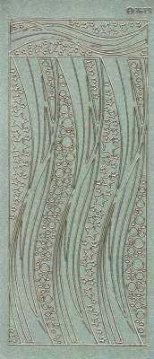 Diamant-Zier-Sticker-Bogen-geschwungene Ränder-grün-gold-3679dgrg