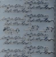 Zier-Sticker-Bogen-Aufrichtige Anteilnahme-silber-367s