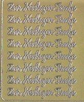 Zier-Sticker-Bogen-Zur Heiligen Taufe-gold-3689g
