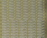 Zier-Sticker-Bogen-Zum und Zur-gold-370g