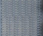 Zier-Sticker-Bogen-0370s-Zum und Zur-silber