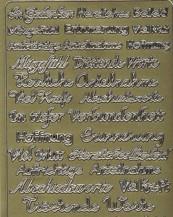 Zier-Sticker-Bogen-verschiedene Schriftzüge-Trauer-Beileid u.v.m.-3714g