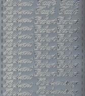 Zier-Sticker-Bogen-Taufe/Hochzeit/Geburt/Hochzeitstag-silber-372s