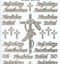 Zier-Sticker-Bogen-Aufrichtige Anteilnahme-Herzliches Beileid-weiß/gold-3773wg