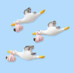 2D-Storch/Baby/Girl-HobbyFun-CREApop-Tisch/Kartendeko-4x1,5cm hoch-145
