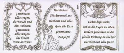 Gravur Sticker Bogen Texte Gluckwunsche Verse Zur Hochzeit
