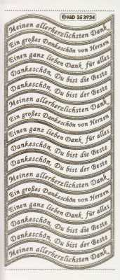 Gravur-Sticker-Bogen-Texte-Danksagungen-transparent-gold-GR 3924trg