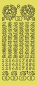 Zier-Sticker-Bogen-Jubiläums-Zahlen-gold-3960g
