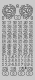 Zier-Sticker-Bogen-Jubiläums-Zahlen-silber-3960s
