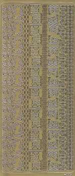 Zier-Sticker-Bogen-kleine Ecken und Ränder-gold-4079g