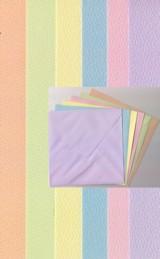 6 x Kartenpapier/Umschl�ge-C6-Pastellfarben-gefalzt-A5-410731