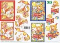 3D Etappen-Bogen-Bär auf Schaukelpferd-4169273