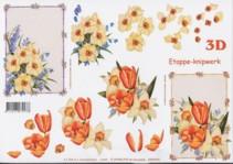3D Etappen-Bogen-Frühlingsblumen-416939