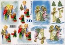 3D-Etappen-Bogen-Engel mit Kindern-4169394