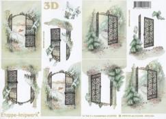 3D Bogen-Etappenbogen-winterliches Tor -4169398