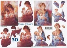 3D Etappen-Bogen-Frau mit Kind-4169441